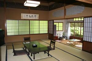 箱根高級温泉旅館京風和風建築