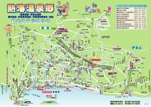 熱海温泉観光地図