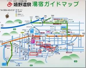 嬉野温泉マップ