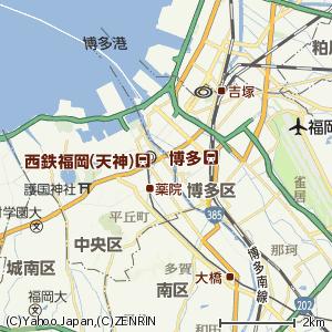 福岡市春吉地区地図