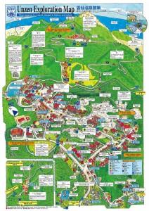 雲仙温泉地図