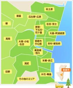 宮崎市内地図