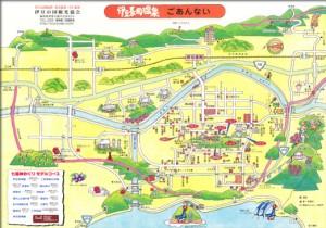 伊豆長岡温泉温泉街地図