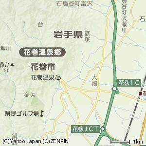 花巻温泉郷の地図
