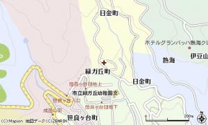 熱海市日金町地図