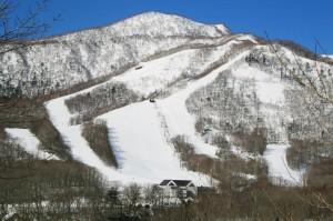 カルルス温泉雪景色